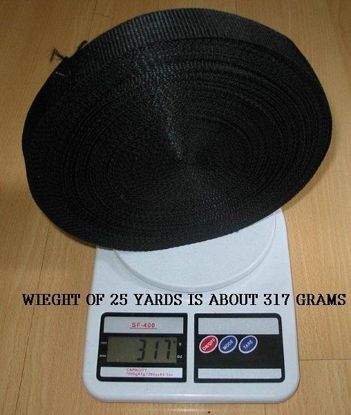 25 YARDS 25mm width BLACK STRAPS WEBBING POLYPROPOLENE - Car Interior Accessories - Photo 3