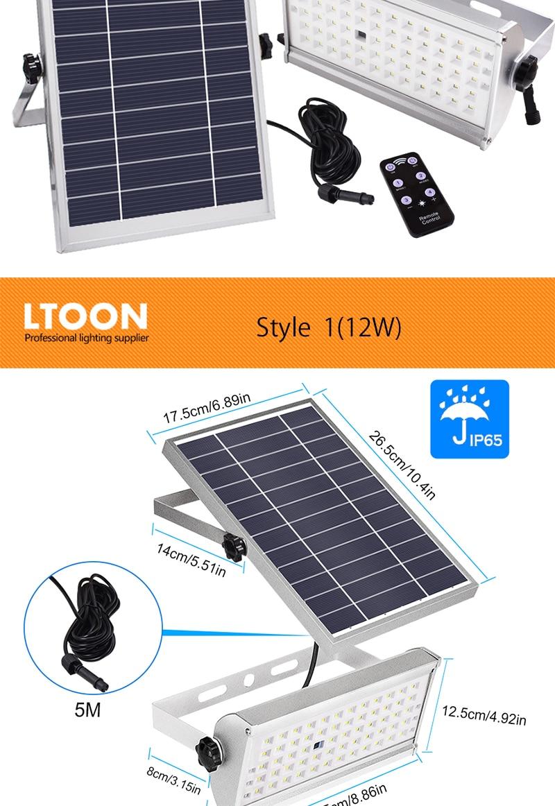 [Ltoon] 65 leds luz solar super brilhante