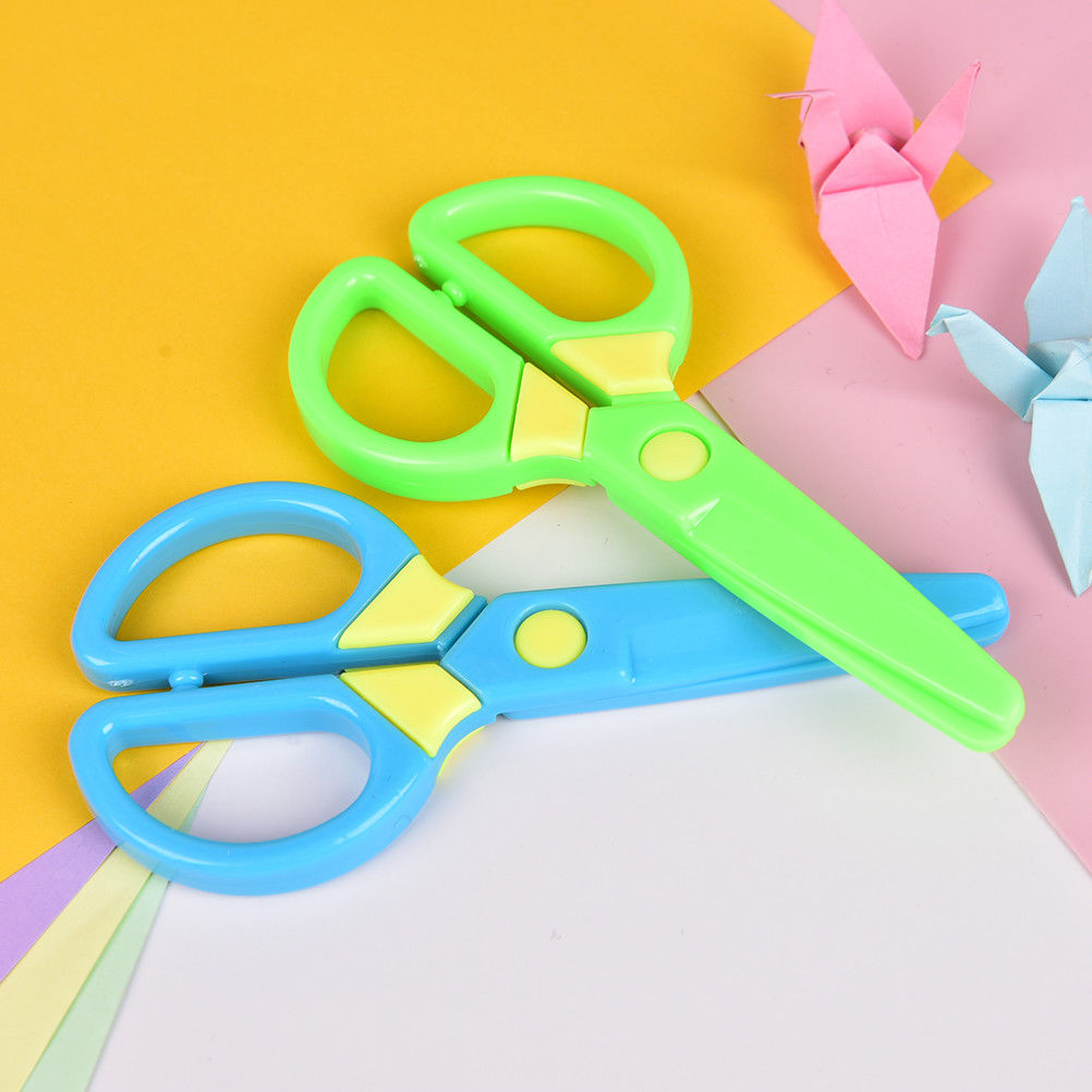 Cutting Supplies Office & School Supplies Peerless Plastic Safety Scissors Diy Handmade Cutting Paper Wallpaper Sscissors Gifts For Children Toy School Supply 125mm*60mm