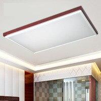 Светодиодная лампа потолка гостиной лампа Новый китайский стиль твердой древесины спальни лампы в китайском стиле красный рифма ceill свет