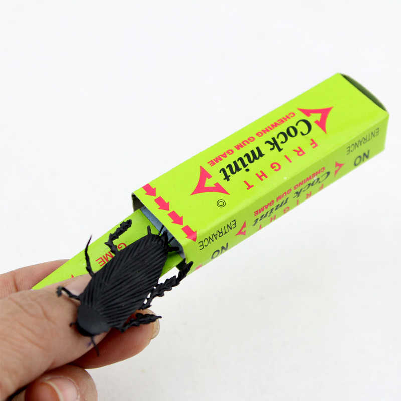 Joke Chewing Gum Shocking Toy Gadget Prank Trick Gag Gifts Funny Shock Plastick Cockroach Chewing Gum