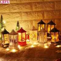 QIFU Santa Claus muñeco de nieve luz Feliz Navidad decoración para el hogar 2019 Navidad adornos para árbol Navidad Noel regalo de Navidad Año Nuevo 2020
