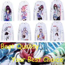 Coolprint Angel Beats anime t shirt anime Yuzuru Otonashi cotton shirt Yuri Nakamura christmas halloween Costumes