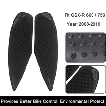 For Suzuki GSX-R GSXR 600 750 GSXR600 GSXR750 2008 2009 2010 Motorcycle Anti slip Tank Pad 3M Side Gas Knee Protector Stickers motorcycle fairings for suzuki gsxr gsx r 600 750 gsxr600 gsxr750 2008 2009 2010 k8 abs plastic injection fairing bodywok kit sw