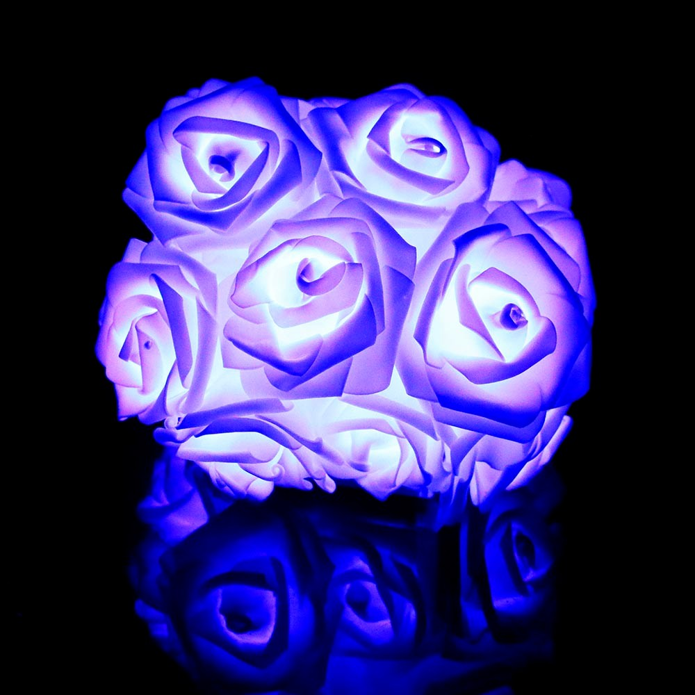 2 м 20 РОЗА светодиодная гирлянда с цветком Сказочный фонарь розовый романтический для праздника, свадьбы, Рождества, Дня Святого Валентина, декор L