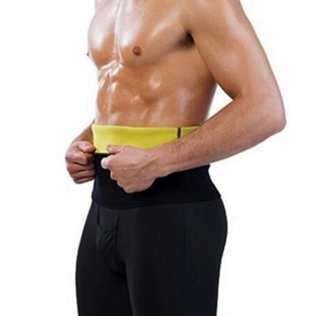 60412d6fb4879 Mens Neoprene Shapers Waist Trainer Waist Cincher Corset Men Body Shaper  Tummy Slimming Belt Fitness Sweat