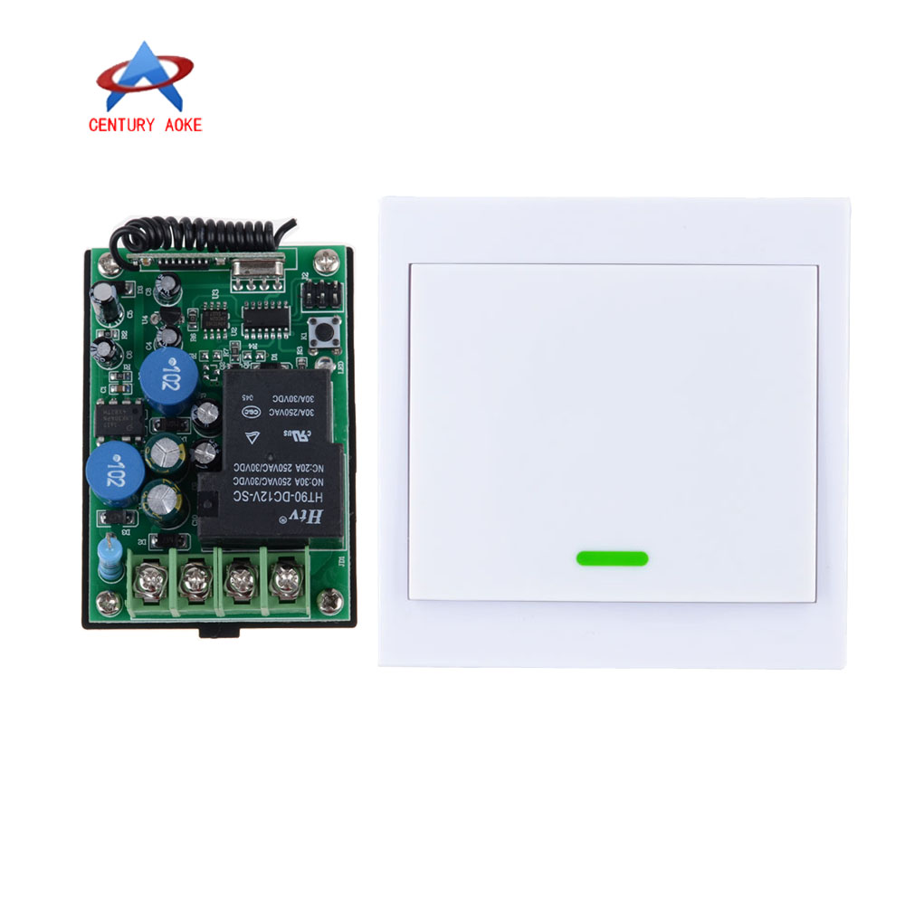 AC 220V RF Wireless Remote Control Delay Time Switch System Multi-function Receiver + Wall Panel Remote Transmitter