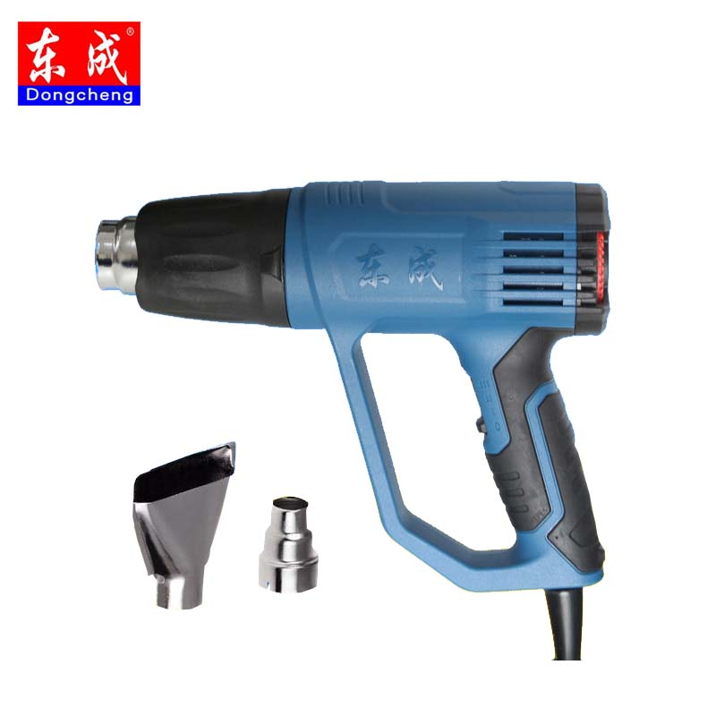 Dongcheng Power Tool 2000W 220V Industrial Electric Hot Air Gun Thermoregulator Heat Guns Shrink Wrapping Thermal Heater Nozzle