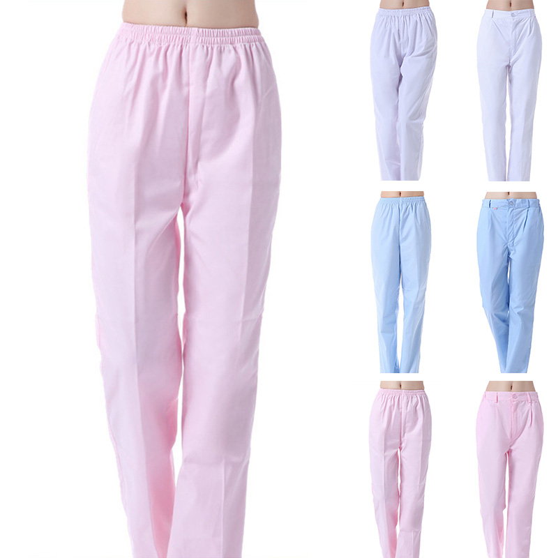 f3b60c0ef91 Women Medical Uniforms Pants Doctors Nursing Workwear Hospital Nurse  Uniforms Pants Elastic Waist Trousers Nursing Scrub Pants-in Nurse Uniform  from Novelty ...