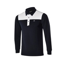 2016 new arrival tit Long-sleeve slim easy care male quick-drying polo shirt golf clothes male t-shirt uniforms leist