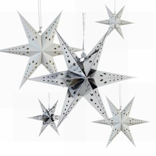 1pc Paper Star Lantern with 6 Angle Window Decor