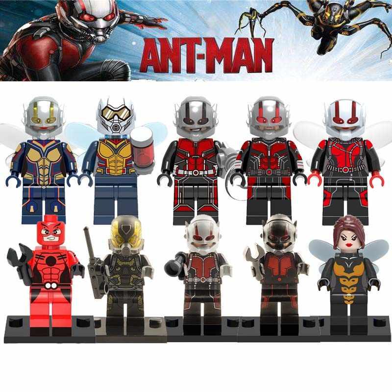 Vente unique Ant-Man Marvel Super héros fourmi homme la guêpe Figure guêpe jaune veste bloc de construction jouets enfants