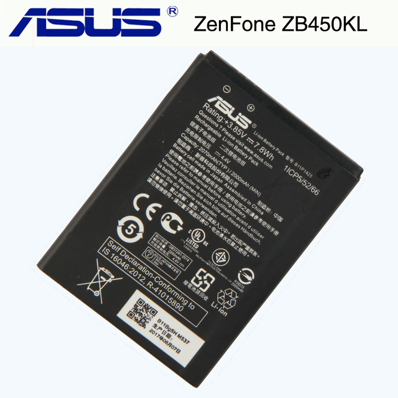 Original Asus B11P1428 Battery For ASUS ZenFone ZB450KL ZE500KG 5  X009DB ZB452KG ZenFone Go 4.52000mAh 2018 newOriginal Asus B11P1428 Battery For ASUS ZenFone ZB450KL ZE500KG 5  X009DB ZB452KG ZenFone Go 4.52000mAh 2018 new