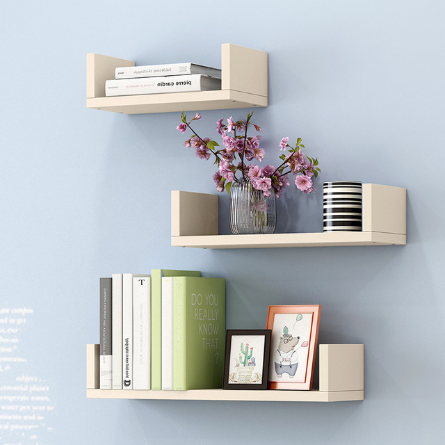 e9ec286090 US $31.99  3pcs Creative Wall Storage Rack Simple Bedroom Living Room Wall  mounted Bookshelf Potted Stand Home Furniture-in Bookcases from Furniture  ...