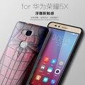 De calidad superior del silicón 3D Estéreo alivio pintura de La Cubierta Para Huawei Honor Caso de la historieta 23 Estilos para Huawei Honor 5X 5X