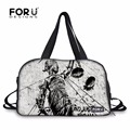 FORUDESIGNS Metallica and Justice for All Logo Printing Sport Gym Bags Outdoor Punk Rock Death Magnetic Style Outdoor Tote Bag