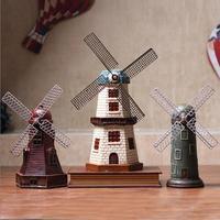 Retro windmill model craft ornaments cafe living room TV cabinet wine cabinet decorations ornaments