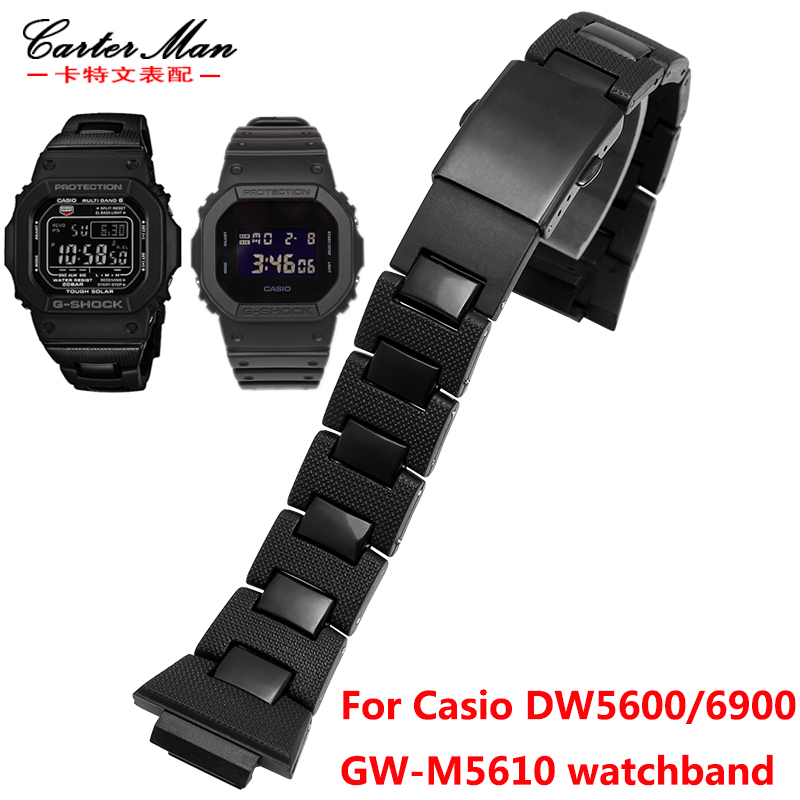 New Plastic watchband High quality for <font><b>G</b></font>-<font><b>shock</b></font> <font><b>DW</b></font>-6900/DW9600/DW5600/GW-M5610 watch bracelet image