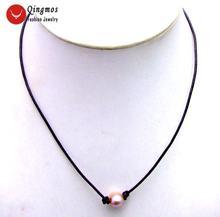 Женское Ожерелье чокер qingmos с жемчугом 10 11 мм украшение