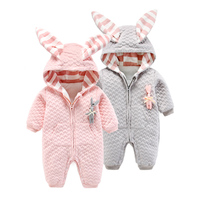 Winter Infant Romper Cotton Padded Clothes Baby Clothing Newborn Clothes