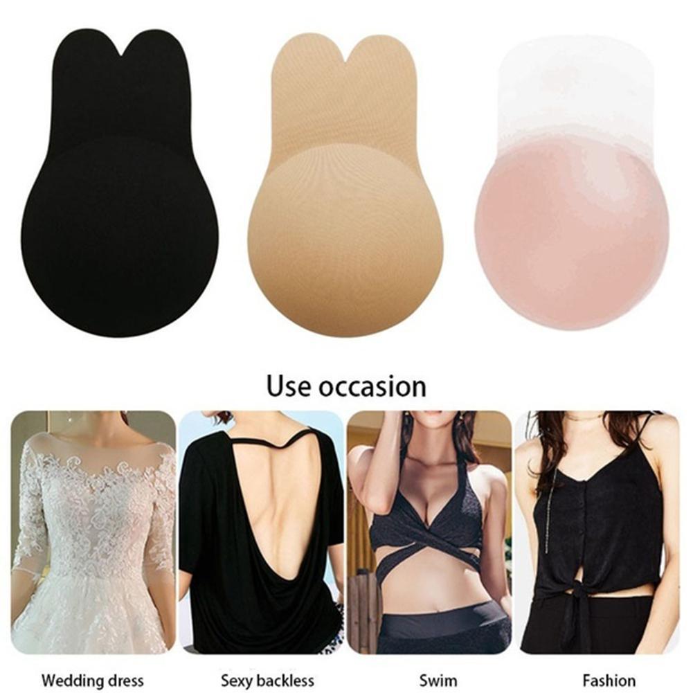 Подушечки для бикини для купального костюма женский бюстгальтер силиконовый самоклеющийся стикер пуш-ап невидимый бюстгальтер купальник ... 28