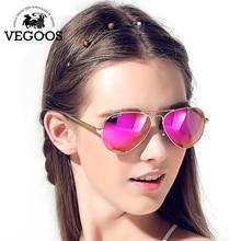 Vegoos Лидер продаж новый солнцезащитные очки женщины мужчины авиации поляризованные флэш зеркальные линзы УФ Защита от солнца очки Óculos De Sol #3025 Вт