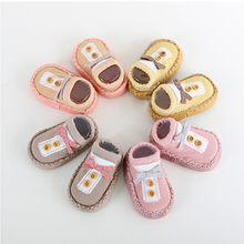 Newborn Spring Autumn Winter Infant Funny Socks Cartoon Newborn Baby Girls Boys Anti-Slip Socks Slipper Shoes dropshipping(China)