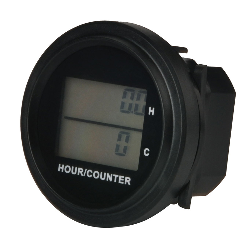 Large LCD DC 8-48V backlight counter and hour meter for diesel generator trencher trail zero turn mower lawn mower golf cart ATV image