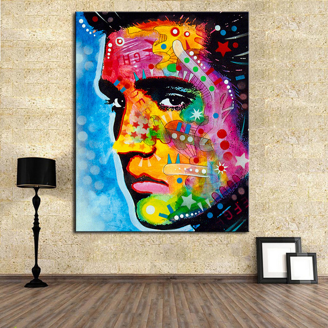 Large size Print Oil Painting Wall painting elvis presley Pop art ...