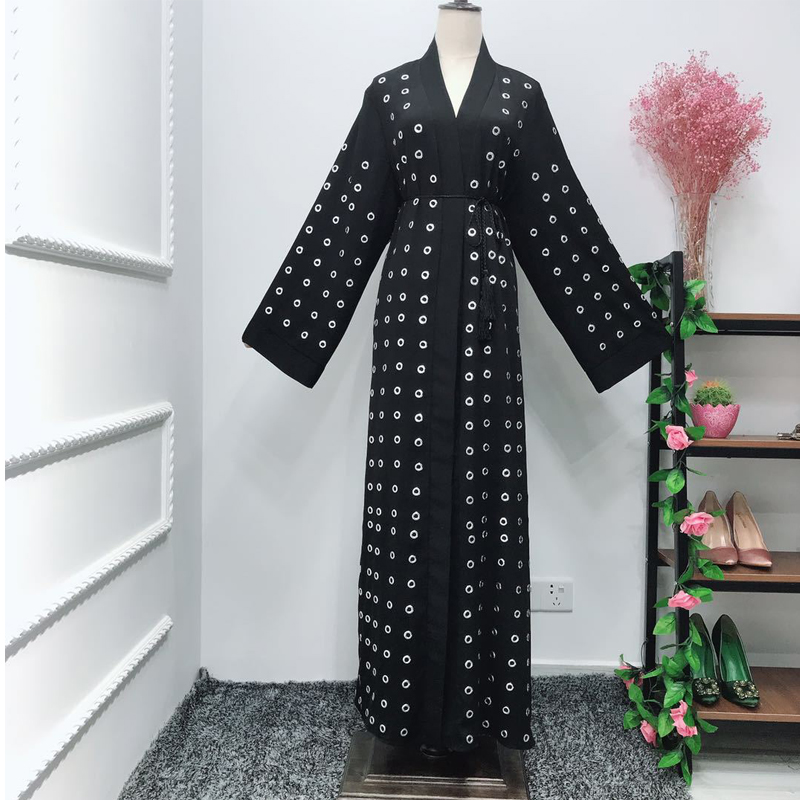 Button Abaya Dubai Kaftan Cardigan Muslim Hijab Dress Turkey Abayas For Women Ramadan Caftan Qatar Robe Femme Islamic Clothing