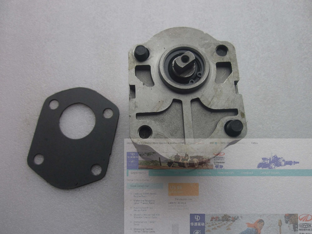 Jinma tractor JM184-JM254, hydraulic pump CBN306L, left rotation, flat connection and end oil outlet gear pump cbn e316l left rotation with flange no end oil outlet splined long shaft of dongfeng tractor