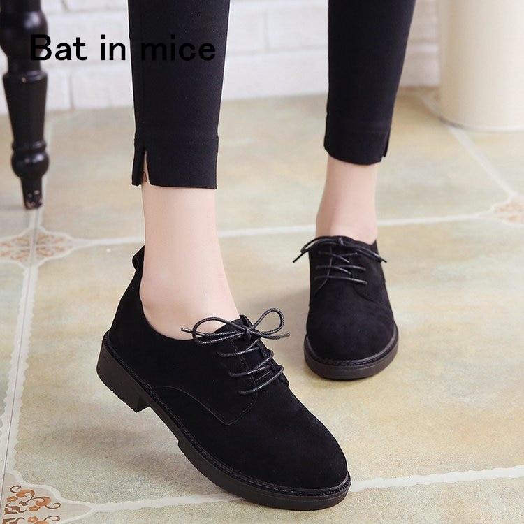 2018 autumn <font><b>Shoes</b></font> Women Casual lace-up Black <font><b>Oxford</b></font> <font><b>Shoes</b></font> Women Flats Comfortable Slip on Women <font><b>Shoes</b></font> Mujer Plus size 35-40 A015