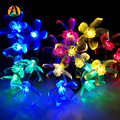 Cherry Pendant LED Solar String Lights Outdoor Garden Christmas Party Festival Decorative Lightings La Luce Solare 4.8M 20leds