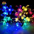 Pingente de cereja LED Solar Luzes Cordas Festa de Natal Do Jardim Ao Ar Livre Festival Iluminações Decorativas La Luce Solare 4.8 M 20 leds