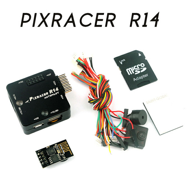 Pixracer R14 Autopilot Xracer Mini PX4 Flight Controller Board New Generation For Multicopter DIY FPV Drone 250 RC Quadcopter new pixracer r14 autopilot xracer px4 flight control mini pixracer r14 autopilot ppm sbus dsm2