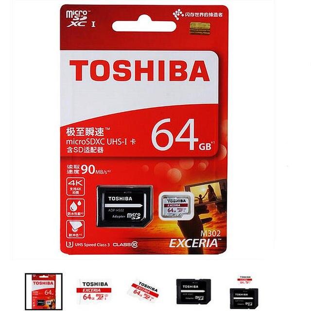 Оригинальный TOSHIBA 64 GB карты Памяти MicroSD Класс 10 Micro SD Tf Для телефонов tablet навигатор DVR + адаптер + розничная пакет