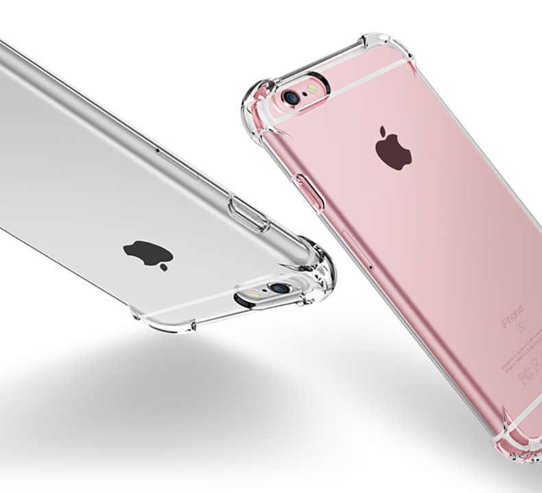 Funda suave transparente a prueba de golpes para iPhone 5 5S SE 6 7 8 Plus 6SPlus 7Plus 8 Plus funda trasera de teléfono móvil de lujo de silicona X S R MAX
