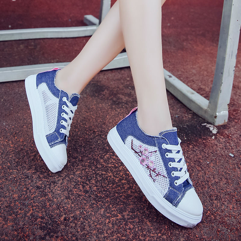 Net shoes female summer mesh breathable canvas shoes women's shoes student casual sports shoes