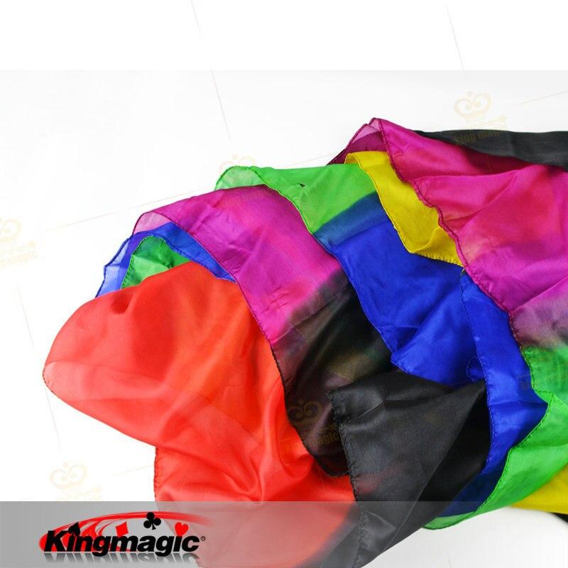 Arc-en-ciel soie Streamer 45 CM * 1000 CM roi magique foulards floraison 22 grande couche accessoires scène Magia astuces magicien Profession jouets - 3