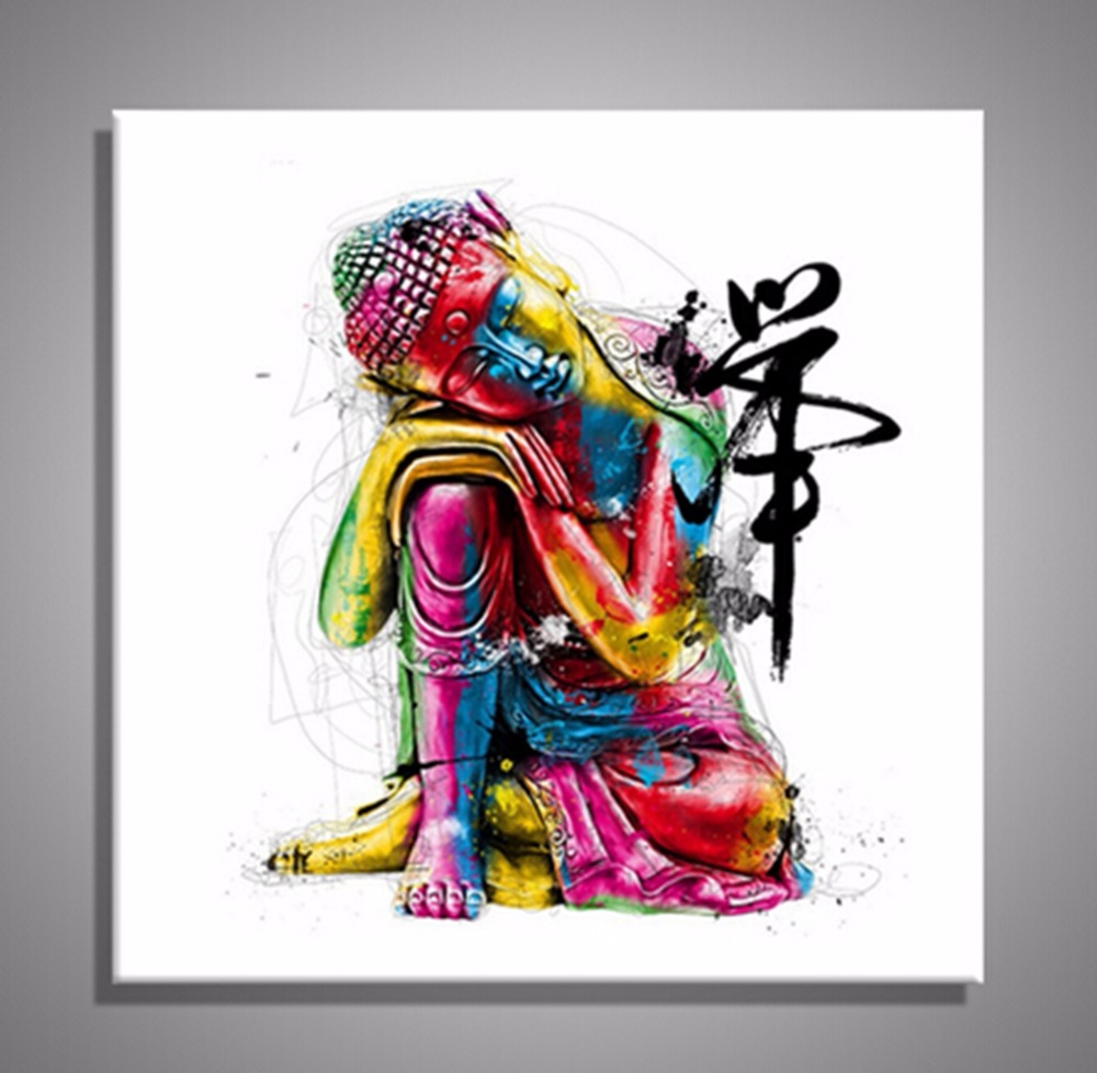 Zen Buddha Statue Buddha Wall Art Canvas Prints Art Home Decor for Living Room Religion Buddha Picture Decorative Art drop ship in Painting Calligraphy from Home Garden