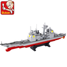 model building kits compatible with lego city warship 477 3D blocks Educational model & building toys hobbies for children