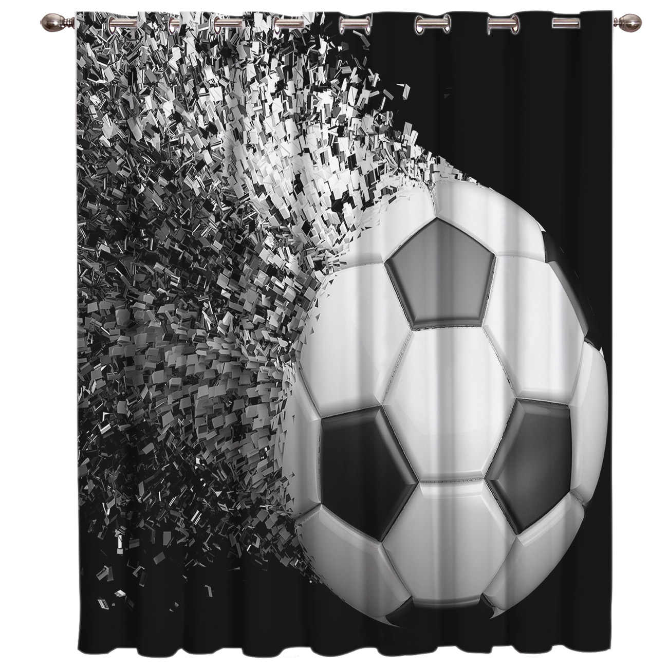 Soccer Curtains Balls Football Design 3D Window Curtains for Living Room Bedroom Kitchen Cortinas Para Sala De Estar Polyester