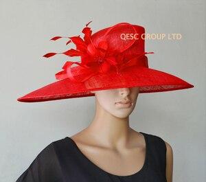 Image 2 - Commercio allingrosso di NEW BIG TESA larga vestito Sinamay cappelli Chiesa, per le gare, Melbourne cup, matrimonio kentucky derby. TRASPORTO LIBERO