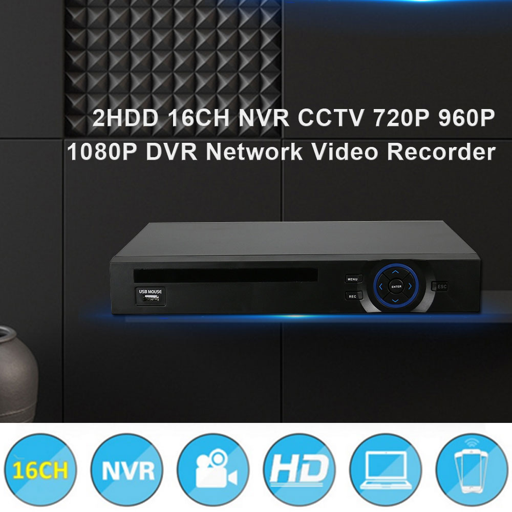 2HDD 16CH NVR CCTV 720P 960P 1080P DVR Network Video Recorder Hiseeu H.264 Onvif 2.0 for IP Camera 2 SATA XMEYE P2P Cloud 40 new cctv accessories 4000gb 3 5 inch hard disk 4tb 7200rpm 128mb sata internal hdd for desktop dvr recorder cctv system sk 243