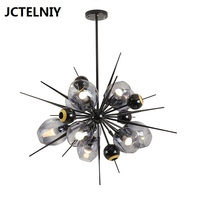 New fashion LED chandelier glass molecular creative lamp living room dining room modern magic bean chandelier