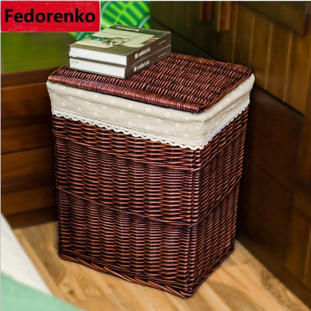 Laundry Storage Baskets Wicker Closet Organizer For Clothes Large Baskets  Wicker Storage Boxes For Clothes Organizer