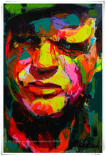 Palette knife painting portrait Palette knife Face Oil painting Impasto figure on canvas Hand painted Francoise Nielly 1