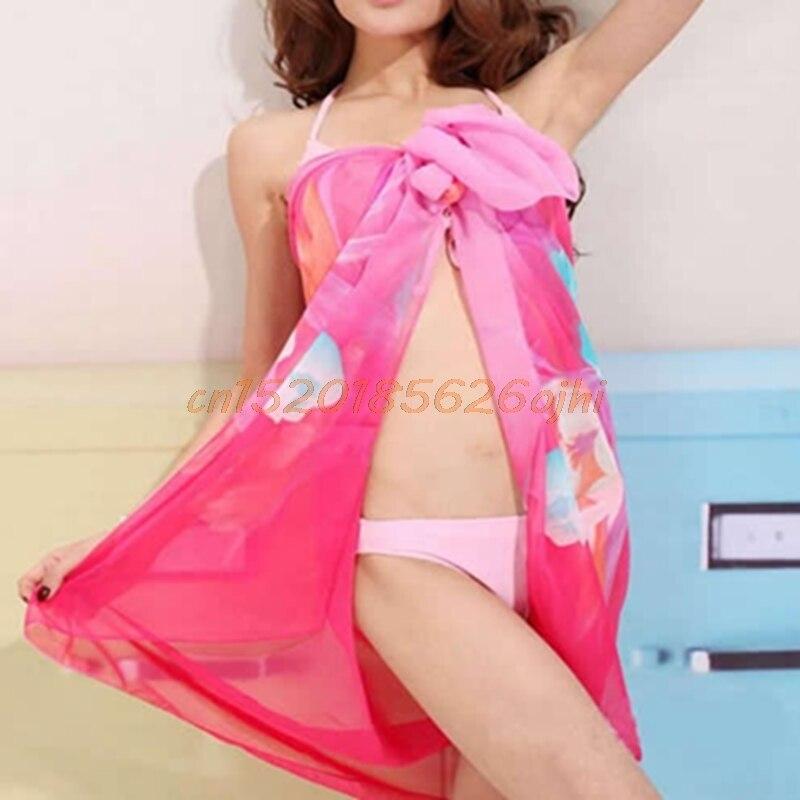 Luggage & Bags Reasonable Ladies Sexy Chiffon Wrap Dress Sarong Pareo Beach Bikini Swimwear Cover Up Scarf