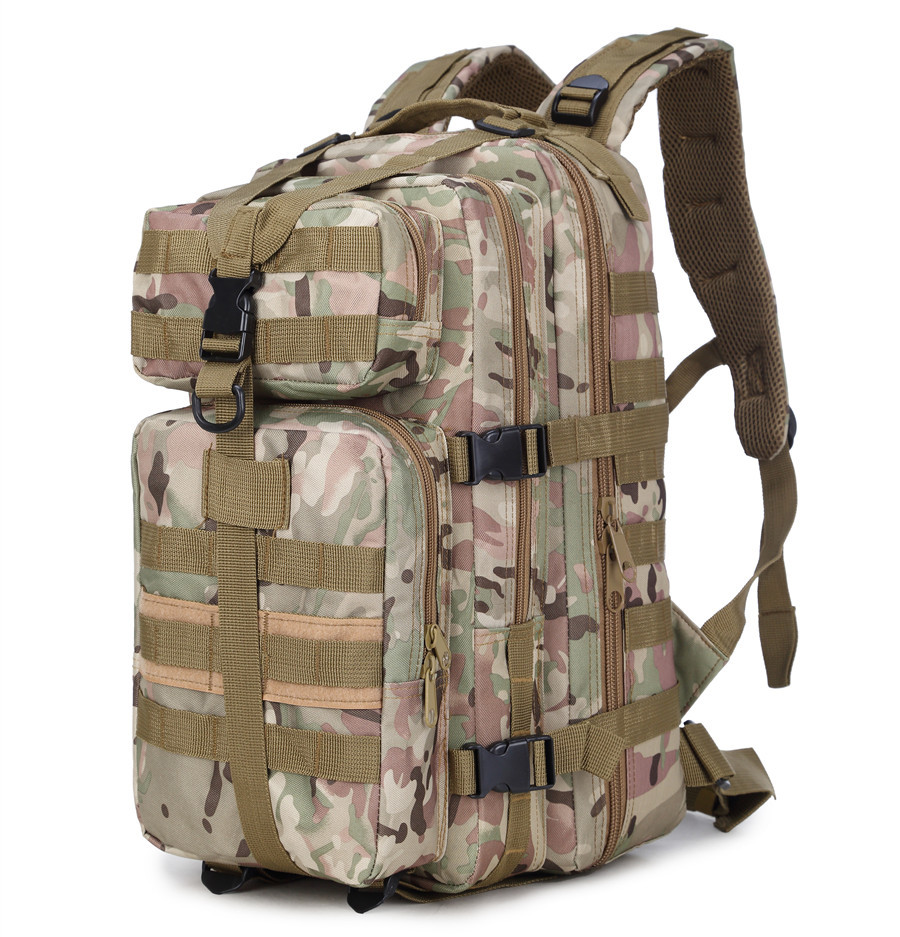 Outdoor 35L Camouflage 3P Military Tactical Backpack Hiking Camping Hunting bags Army Assualt Pack Tactics Nylon Travel backpack outlife new style professional military tactical multifunction shovel outdoor camping survival folding spade tool equipment