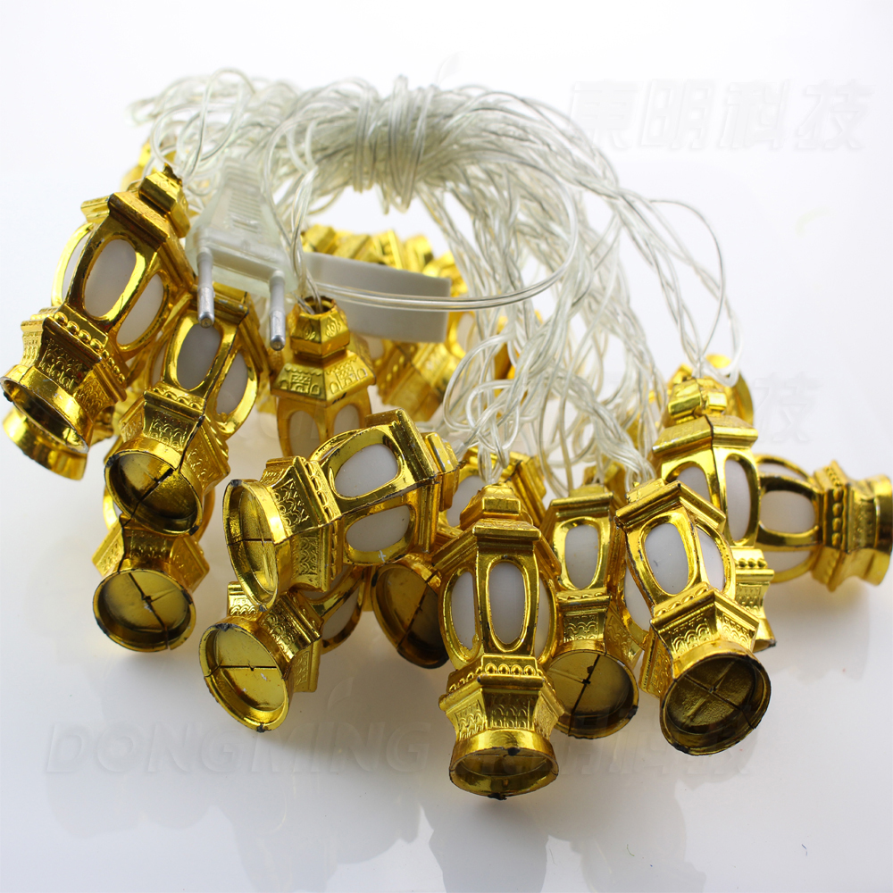 Novelty 5m 20 Leds Chinese Lantern Shaped String Lamps Led Christmas Lights Fairy Wedding Garden Pendant Garland